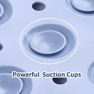 bathtub mat shower tub bath kids non slip plastic anti extra large clear suction cup soft natural