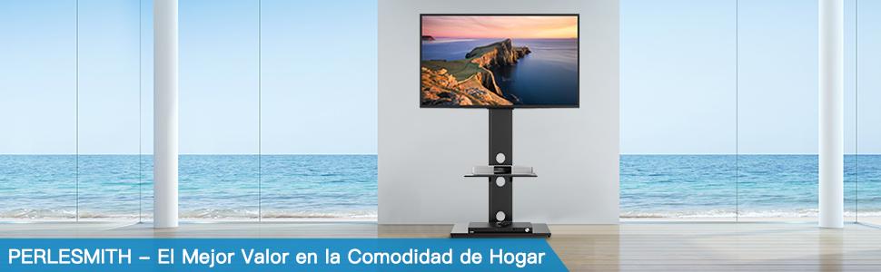 """Soporte Giratorio TV de Suelo con Estantes para Pantallas LCD LED de 32-65"""": Amazon.es: Electrónica"""