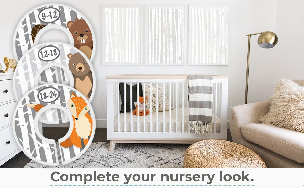 nursery décor baby shower gift baby boys baby girls wardrobe dividers baby closet organizers
