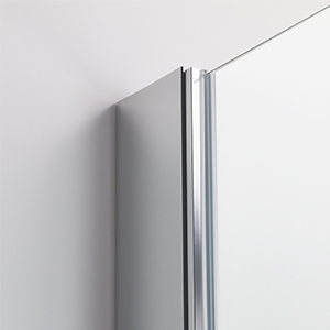 Mai /& Mai porte de douche pivotante 180/°auto-levante paroi de douche pour niche 85x195cm en verre ESG transparent de 6mm avec rev/êtement Nano dentr/ée gauche Ter24K