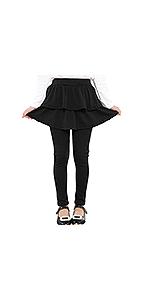 Adorel Leggings con Falda Pantalones Largos para Niñas