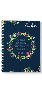 Be Brave personalized spiral notebook