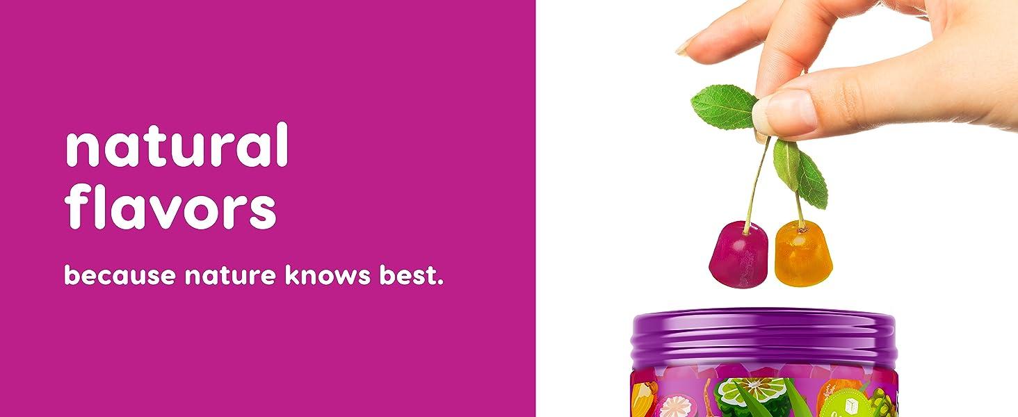Natural flavors strawberry cherry orange vitamins multivitamins gummy gummies multigummies vits