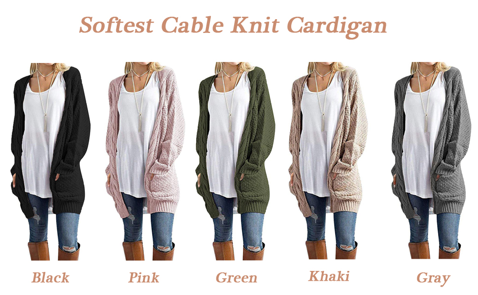 thick cardigans for women
