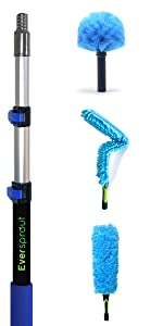 EVERSPROUT 1.5-to-4.5 Ft Duster 3-Pack with Extension-Pole (17 Inch Dusters)