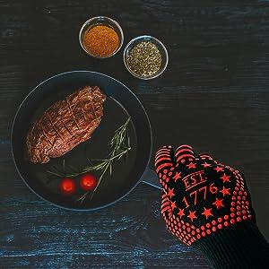 gloves kitchen heat resistant gloves red heat resistant gloves bbq gloves heat resistant cooking