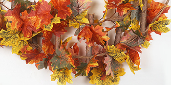 outdoor fall home decor hanging leaves Fall Hanging Garland Decor fall wedding decor fall garland