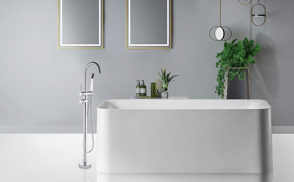 chrome bathtub tap
