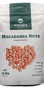 Nature's Morsels Dark Roasted Macadamia Nuts