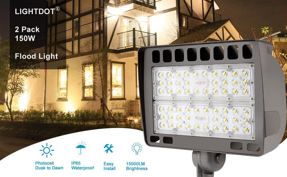 2 Pack 150 Watt LED Flood Light