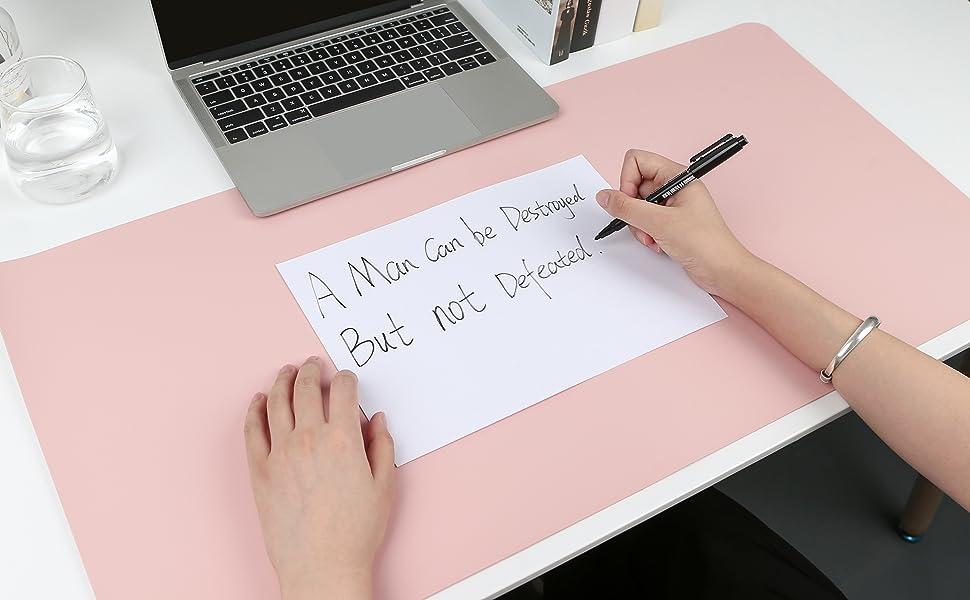 Comfortable writing surface