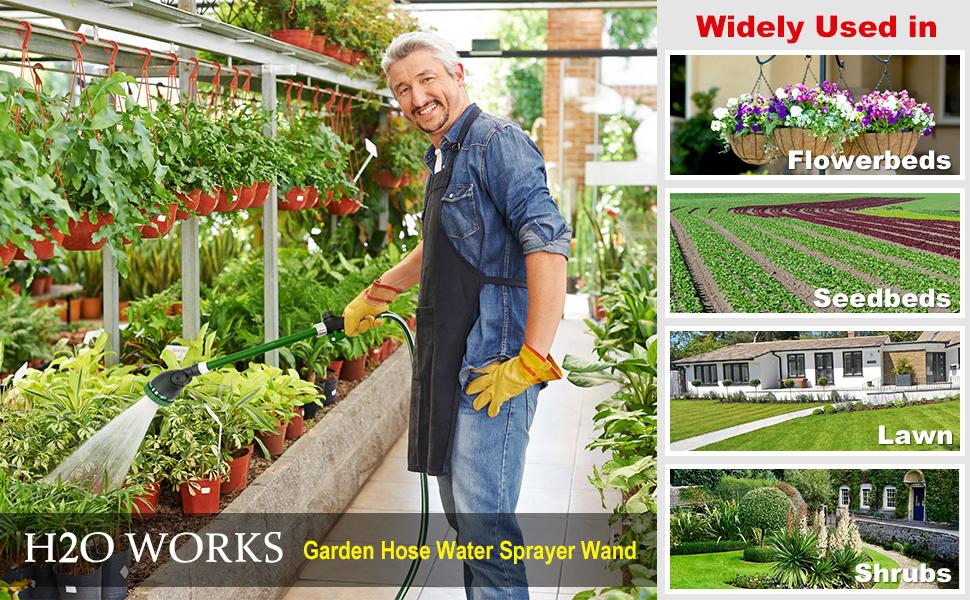 Heavy Duty 21 Inch Watering Wand Adjustable Garden Hose Water Sprayer Wand