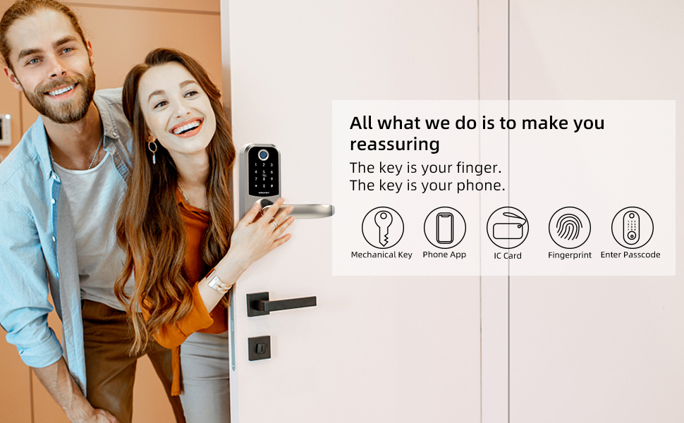 smart lock with handle