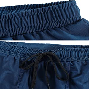Elastic waistband and drawcord