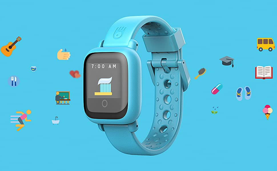 New - Octopus Kids Smart Watch v2 - Blue - Plan Activities, Responsibilities and Healthy Habits - Fitness Tracker and Electronic Daily Schedule