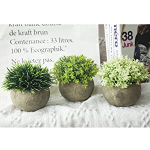 artificial plants in pot