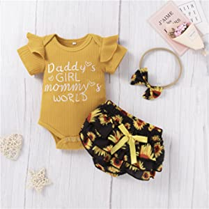baby girl sunflower clothes