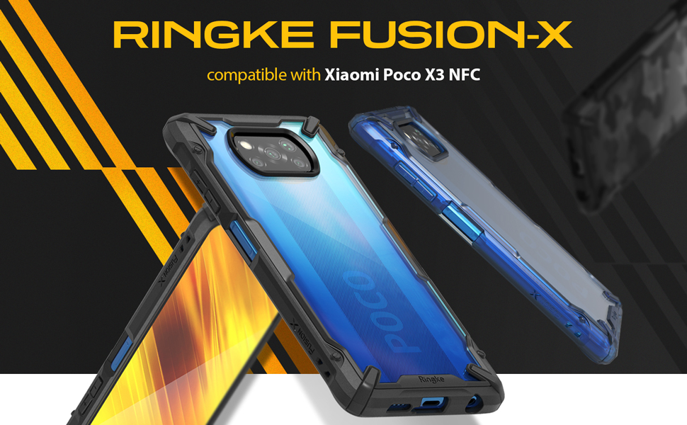 Ringke Fusion-X Συμβατό με θήκη Poco X3 NFC (2020)