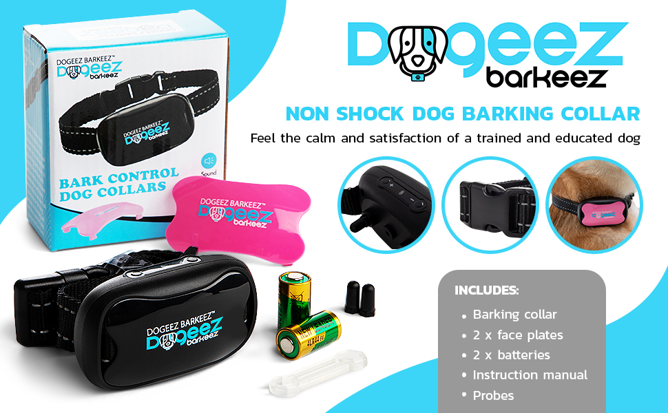 Dogeez Barkeez No 25% OFF Bark Collar for Medium Small Dogs Large and