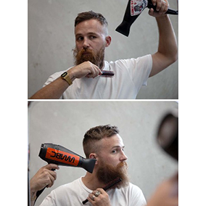 how to style a beard  like a pro step by step blow drying hair dryer flyaways of facial hair