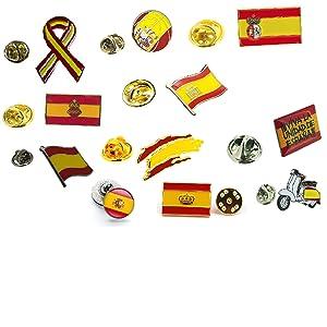 Gemelolandia Bandera de España Pin de Solapa Pin de Traje con la Bandera de España: Amazon.es: Ropa y accesorios