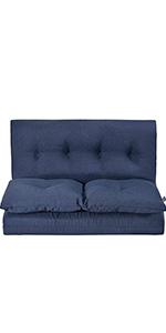 Navy Blue Floor Sofa