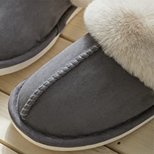 fluffy warm slippers women indoor slippers suede slippers for women slip on slippers