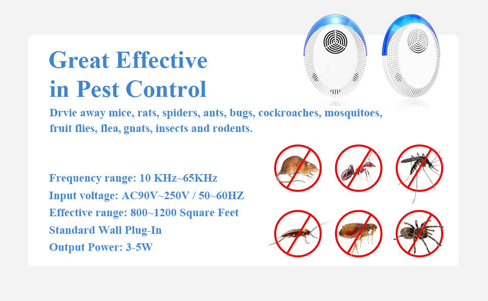 ultrasonic pest repeller plug in