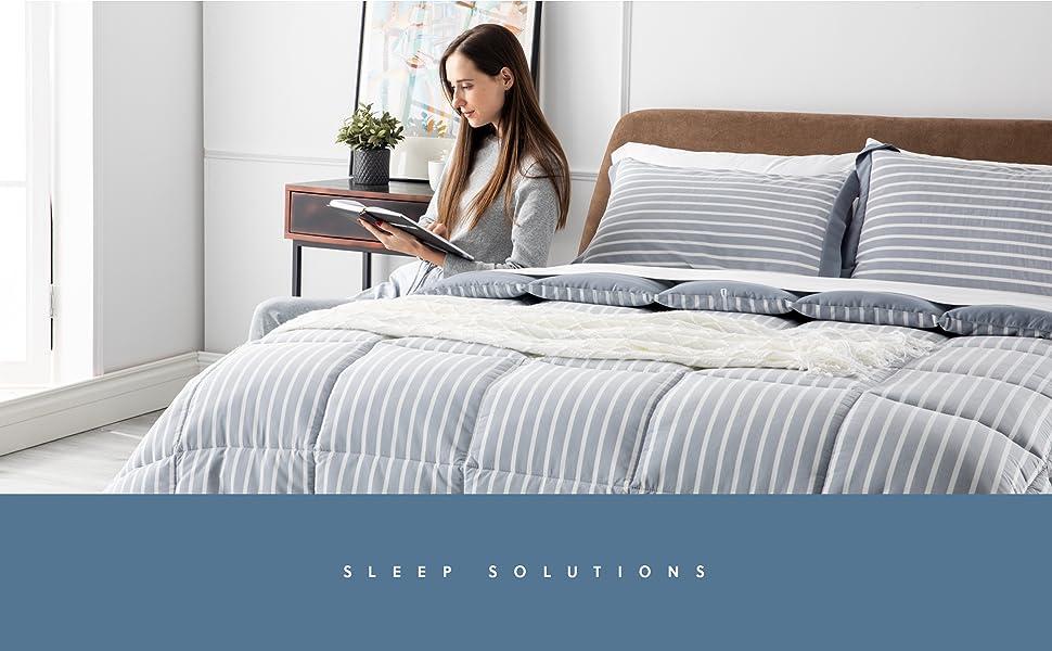 Bedsure Blue King Comforter Set