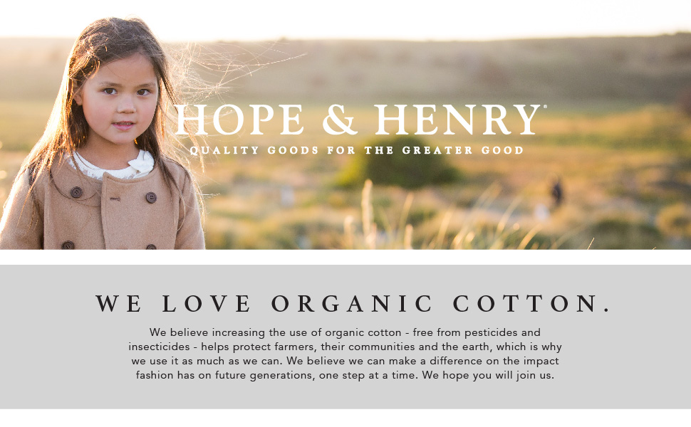 hope Henry organic cotton young kids boy girl little baby girls