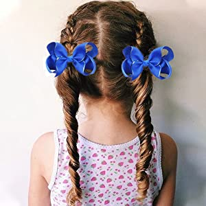 girls pigtail bows