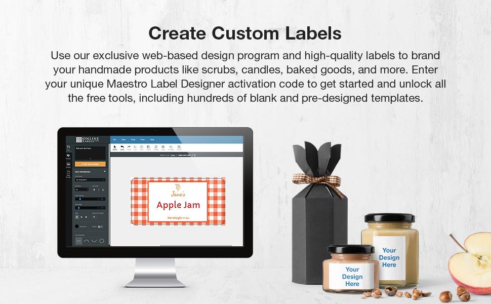 maestro label designer product label rectangle label