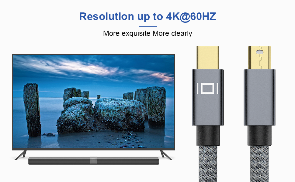 mini port display cable ,resolution up to 4k@60hz