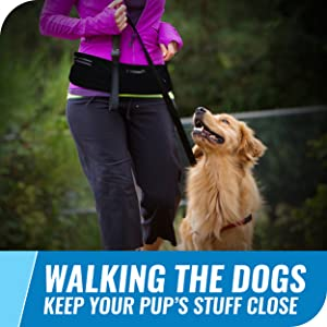 walking the dogs keep your pup's stuff close