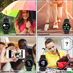 Stopwatch Romote Camera Shutter Weather forecast find phone