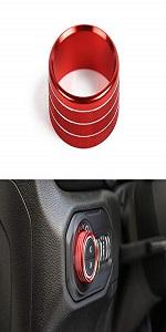 Headlight Switch Knob Frame Ring Cover Trim for Jeep Wrangler JL JLU 2018-2021
