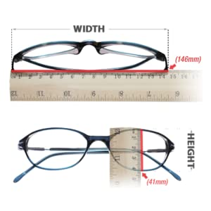 MEASURE WIDTH HEIGHT OF GLASS FRAMES
