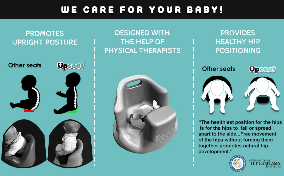 upseat, physical therapists, baby hips, baby posture, upright posture, baby seat for sitting up