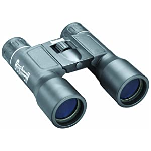 Three quarter view of Bushnell Powerview Compact Folding Binoculars