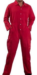 red jumpsuit unisex mens womens flightsuit costume