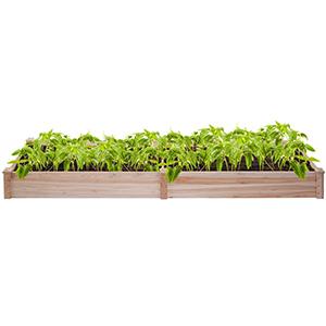 wood garden planter