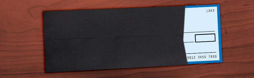 black #11 policy envelope