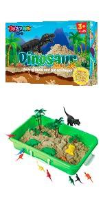 Dinosaur Play Sand Kit