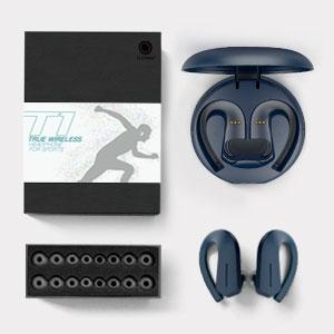 Истински безжични слушалки с многоразмерни подложки за уши