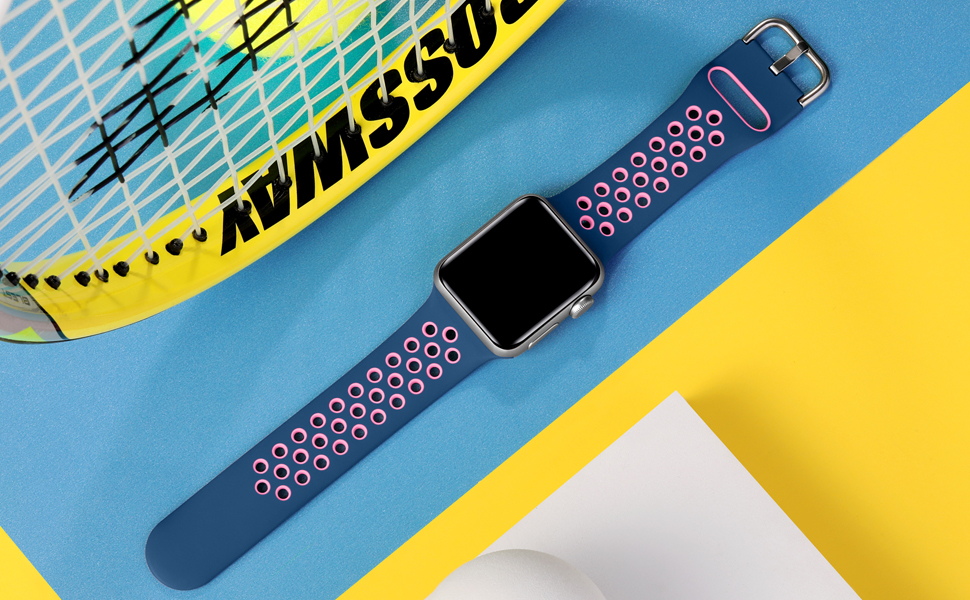 Muranne stylish durable wristband is made of high-performance silicone and stainless steel buckle