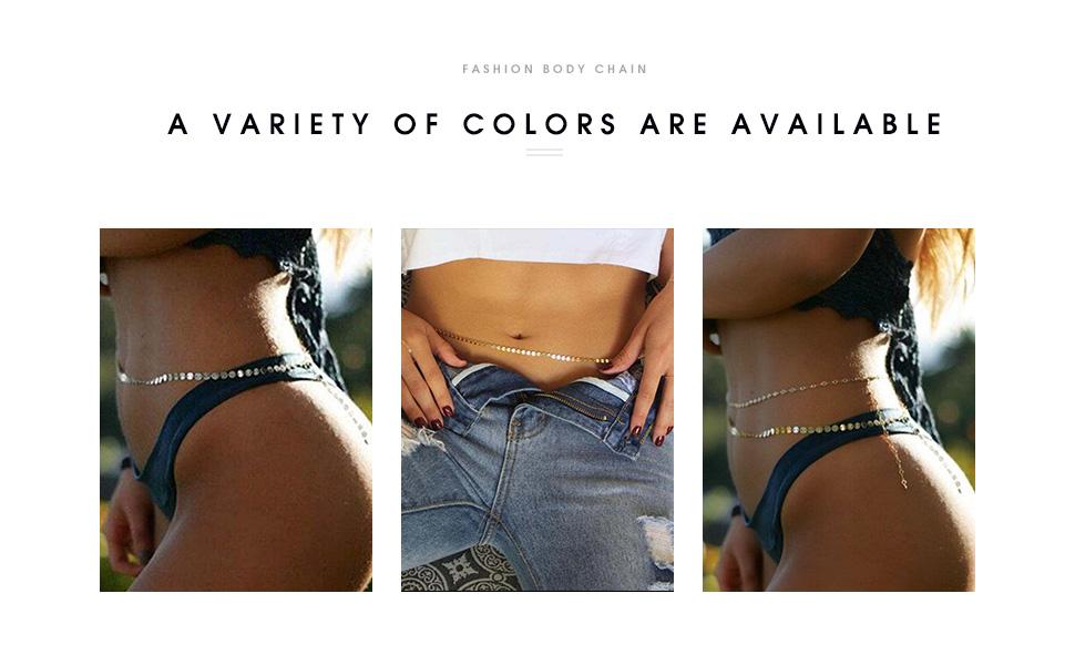 sequin waist chain for women