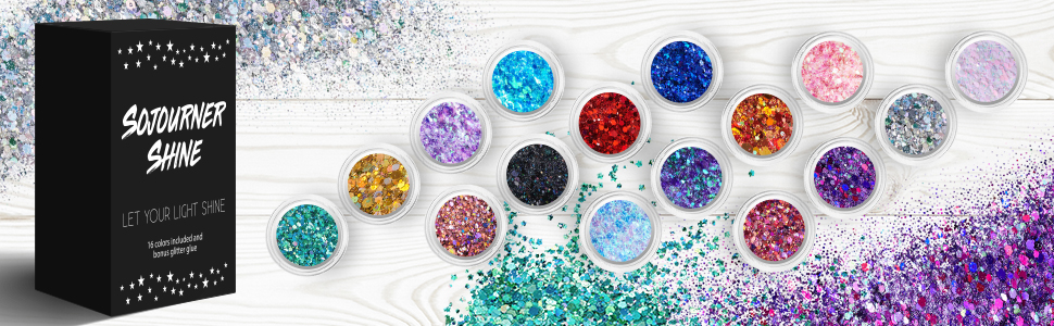 chunky lip  body holographic  cosmetic  glitter eye hair  skin  craft loose bulk holographic set