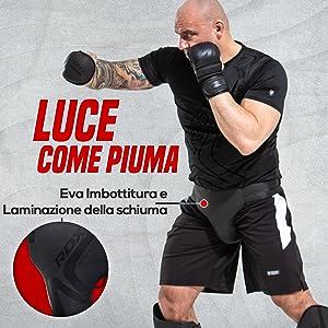 RDX Conchiglia Protettiva MMA Pelle Convessa Inguine Protezione