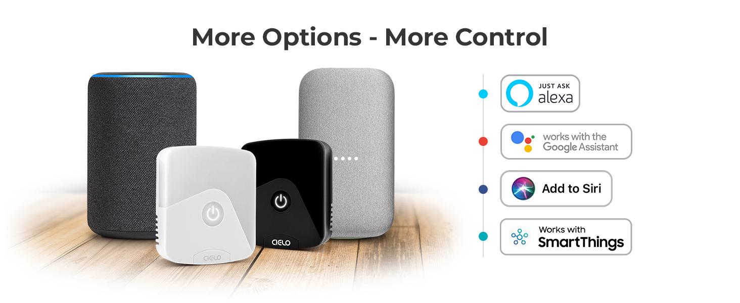Alexa, Google Home, Siri Shortcuts, SmartThings, IFTTT, Air conditioner, AC, Heat Pump, Cielo Breez