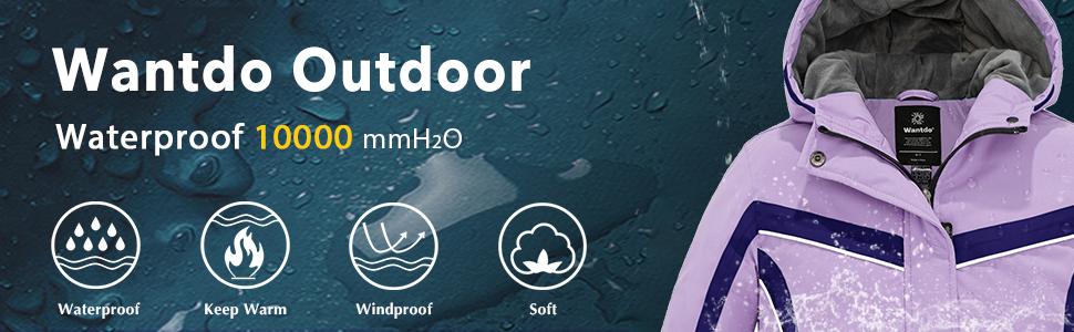 Girls' Waterproof Ski Jacket